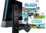 Wii negro como nuevo mes y medio de comprado con garantia